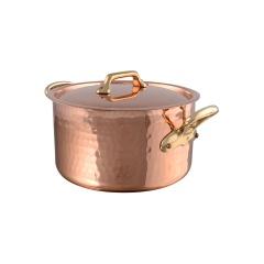 M'tradition cuivre Bassine à ragoût avec couvercle