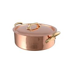 M'tradition cuivre Rondeau avec couvercle