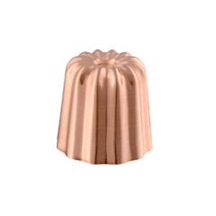 M'passion Copper stainless steel Canele Mold