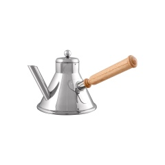 Service en salle Stainless steel coffee pot with wood handle
