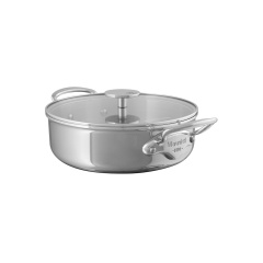 M'cook stainless steel Rondeau with glass lid