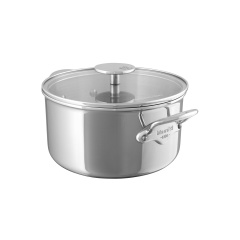 M'cook stainless steel Stewpan with glass lid